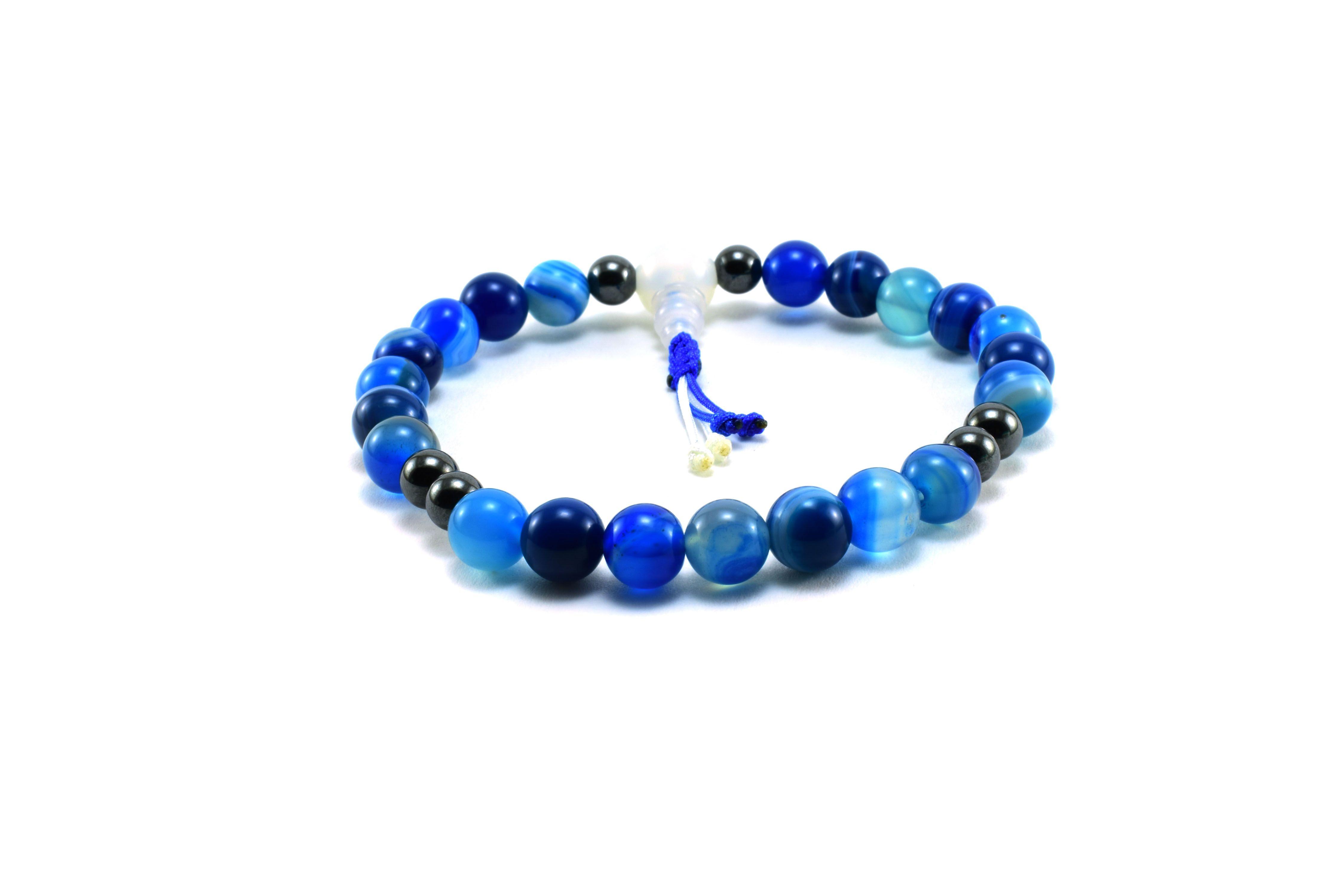 02c652180 Kék achát Hematit Egyedi Málá